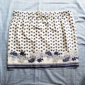 Ann Taylor floral pattern drawstring skirt size XL